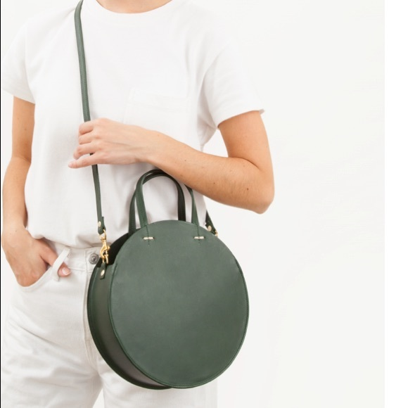 0523f595214 Clare Vivier Handbags - clare v petit alistair in loden with pink trim